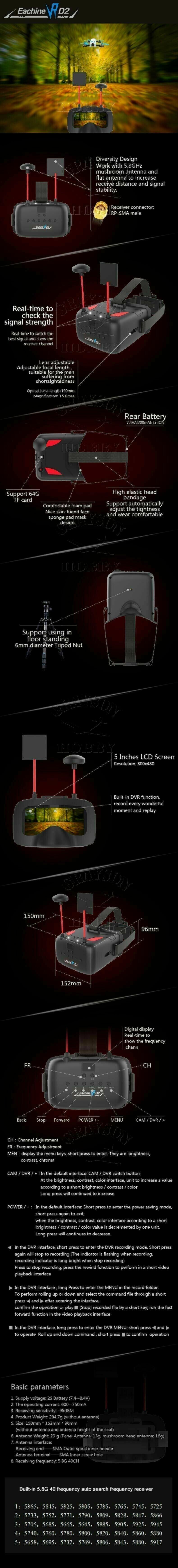 Eachine VR-D2 - FPV Goggle