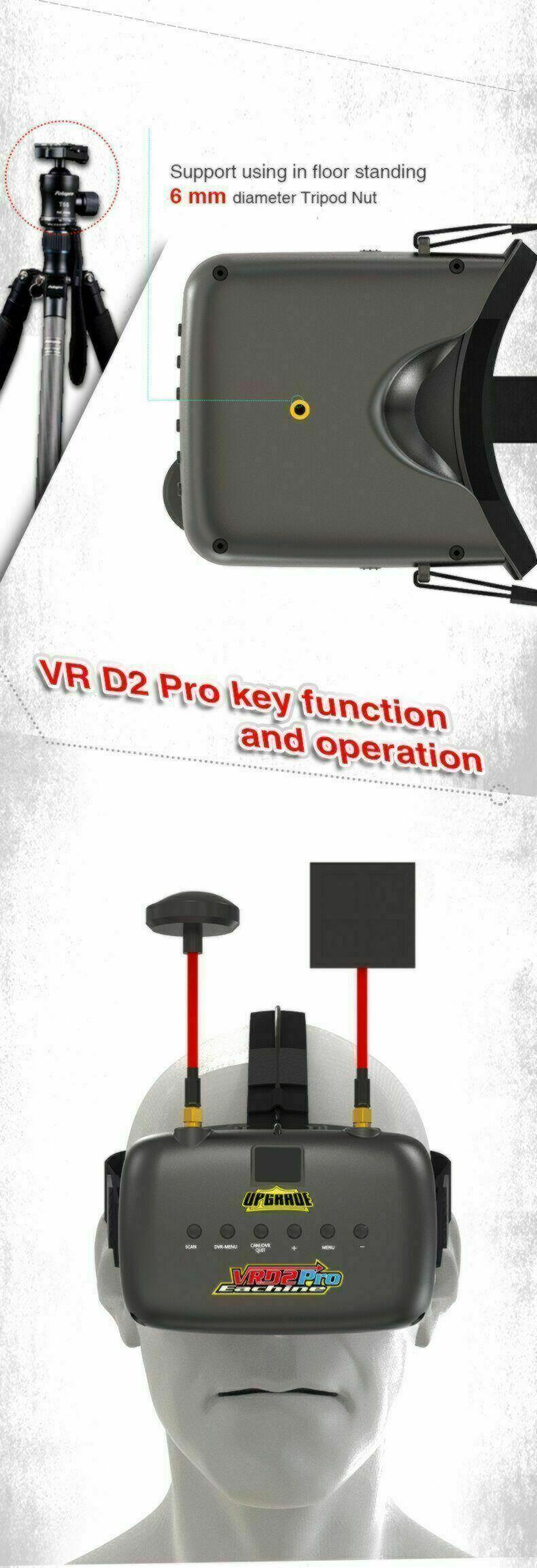 Eachine VRD2 PRO - FPV Video Goggles | Monitor /w Diversity RX