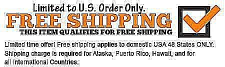 Free Shipping to lower 48 US States