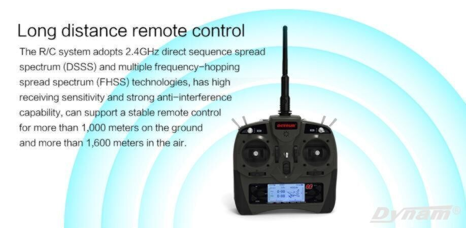 Detrum GAVIN-8C 8 Channel Transmitter with SR86A Receiver+Gyro